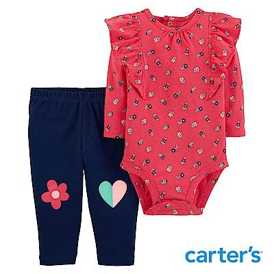 Carter's 荷葉碎花印圖2件組套裝