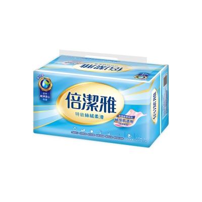倍潔雅特級絲絨柔滑抽取式衛生紙110抽8包x10袋-2箱組