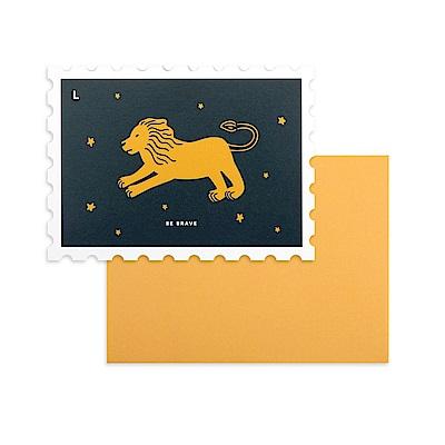 Dailylike 郵票造型卡片信封組-12 勇敢