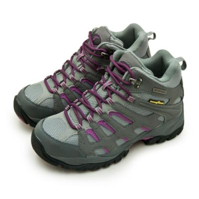 GOODYEAR 固特異專業多功能郊山防水戶外健行鞋 灰紫黑 82518