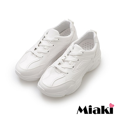 Miaki-老爹鞋.心機必備休閒小白鞋-白