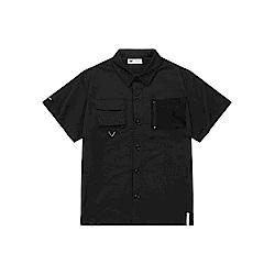 NAVY-特殊口袋短襯衫-男【SNC042】