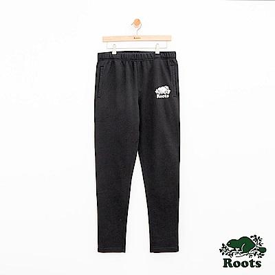 男裝Roots 經典棉質休閒棉褲-黑