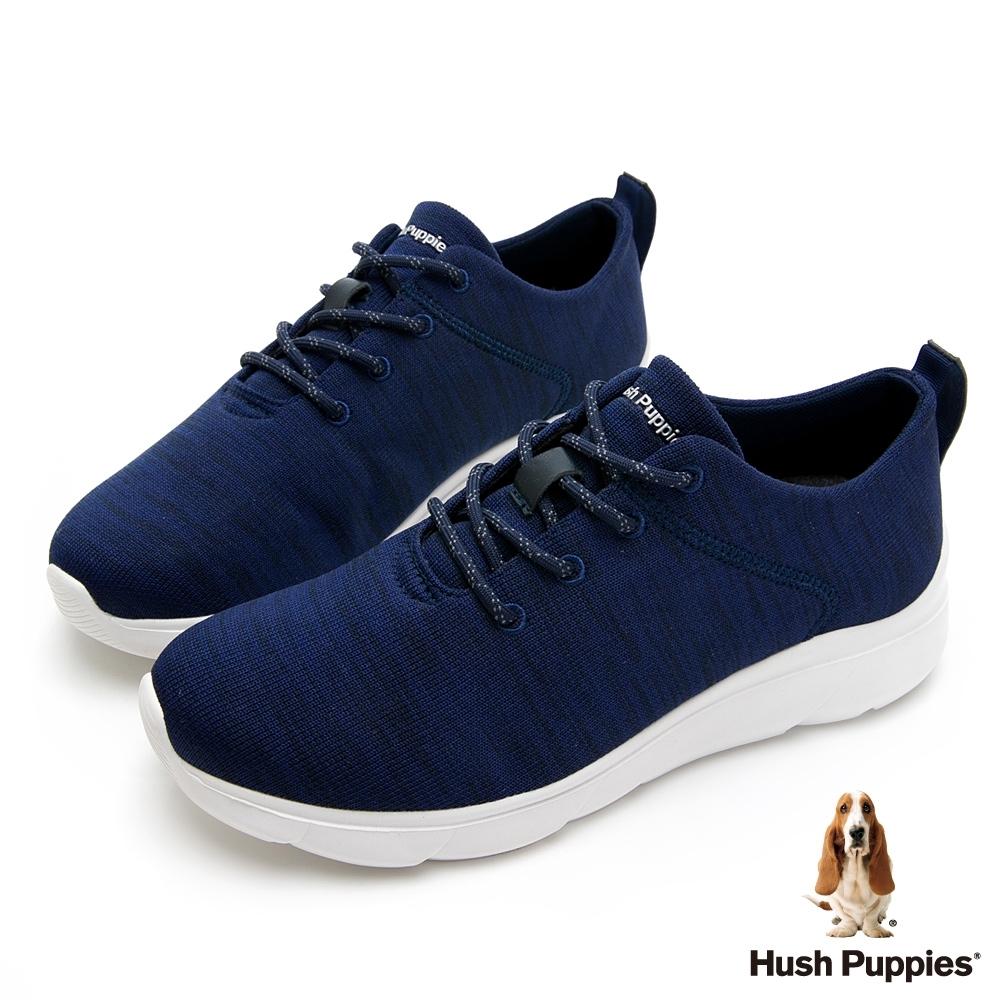 Hush Puppies 舒適針織休閒男鞋-藍色