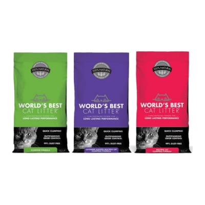 WORLD′BEST CAT LITTER沃貝專利環保玉米砂精典系列 14LB(6.35KG)