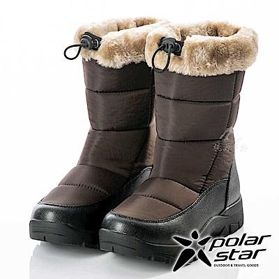 PolarStar 女保暖雪鞋『棕』P18628 (冰爪 / 內厚鋪毛 /防滑鞋底)