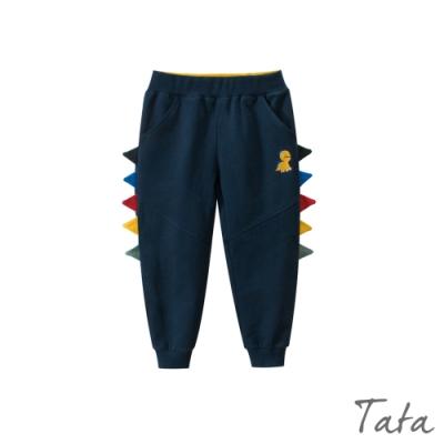 童裝 恐龍刺繡拼接彩色三角運動褲 共二色 TATA KIDS
