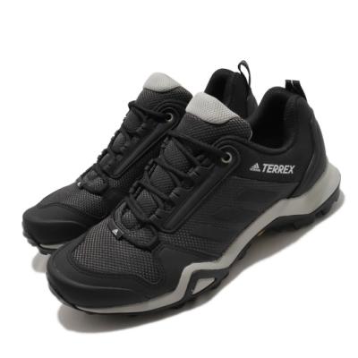 adidas 戶外鞋 Terrex AX3 W 女鞋 愛迪達 登山 越野健走 防水 高抓地力 黑 灰 EF3512