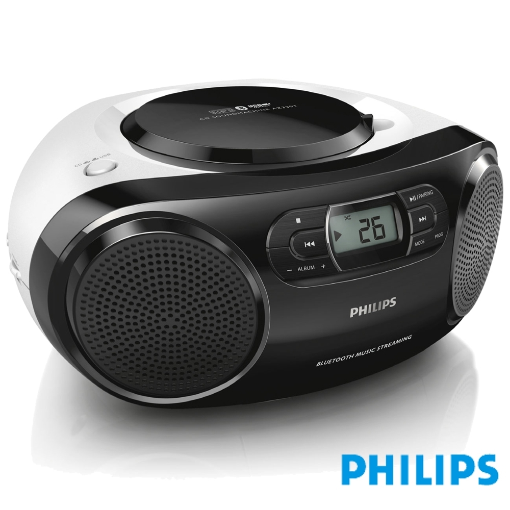 PHILIPS 飛利浦藍牙手提CD音響 AZ330T