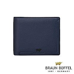 BRAUN BUFFEL - 吉米系列4卡零錢袋皮夾 - 藍