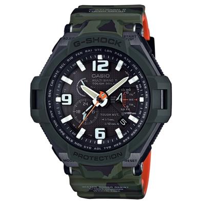 G-SHOCK帥氣軍事迷彩風格設計飛行電波腕錶(GW-4000SC-3A)-50.4mm