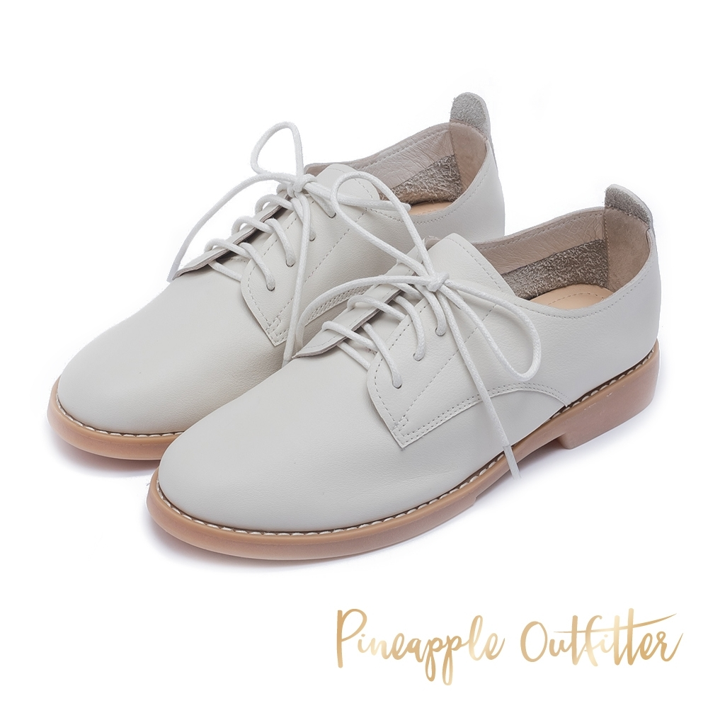 Pineapple Outfitter 極簡印象超軟縫線側底牛津鞋-米色