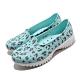 Skechers 水鞋 Go Walk Smart 休閒鞋 女鞋 雨天必備 快速排水 豹紋 好穿脫 藍 彩 111119BLMT product thumbnail 2