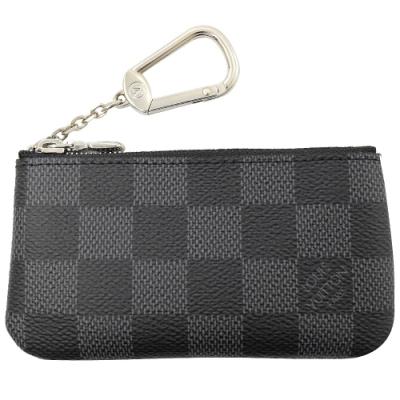 LV N60155 Cles黑灰棋盤格紋拉鍊零錢鑰匙包