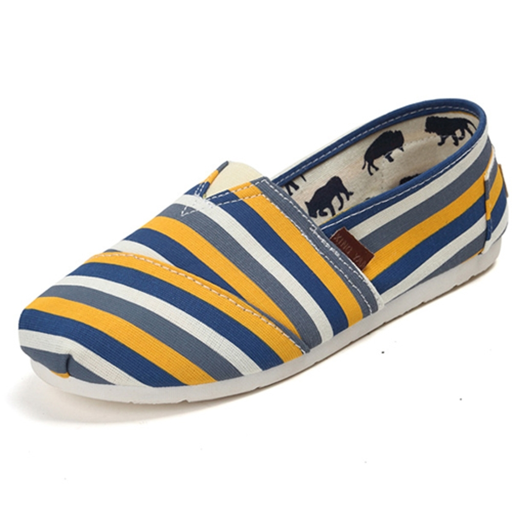 韓國KW美鞋館 (現貨+預購) 懶人帆布鞋 嫩彩系散步樂活款-黃