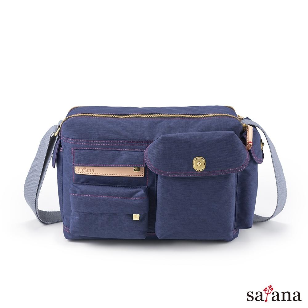 satana - Soldier 簡單生活斜肩包 - 礦青藍
