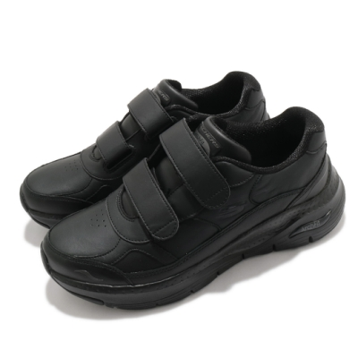 Skechers 休閒鞋 Arch Fit-Best Step 女鞋 魔鬼氈 支撐 專利鞋墊 穩定 回彈 黑 149410BBK