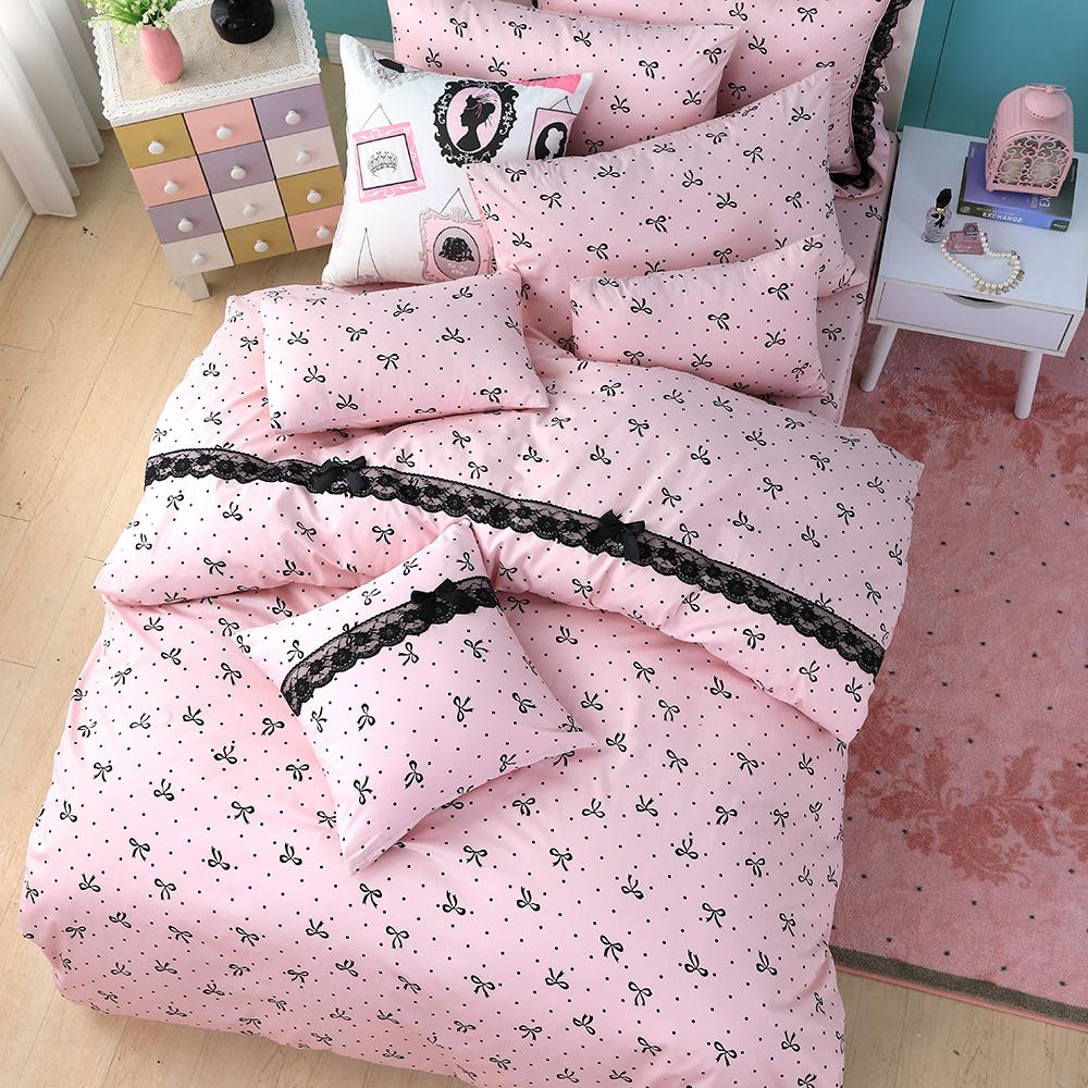 OLIVIA   蝶戀  標準雙人床包美式枕套三件組