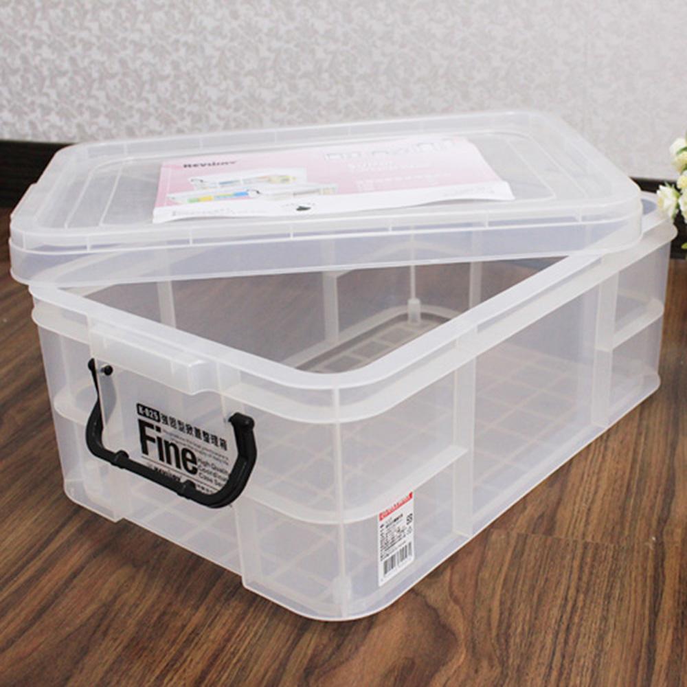 【生活King】強固型掀蓋整理箱-23L(2入組)
