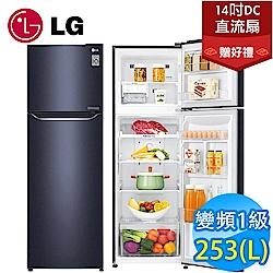 [無卡分期12期] LG樂金 253L 1級變頻2門電冰箱 GN-L307C 典雅藍