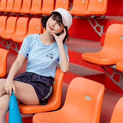 台灣製運動KITTY涼感短袖上衣-OB大尺碼