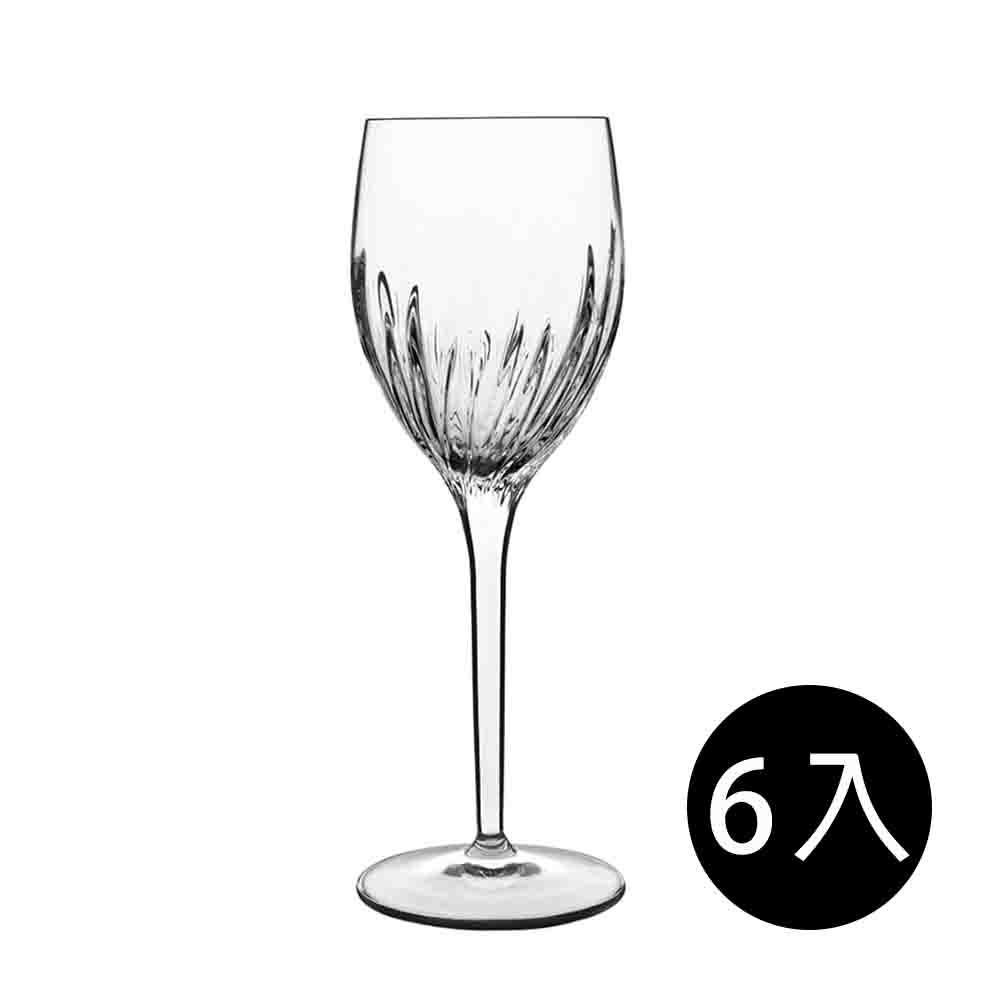 義大利Luigi Bormioli 古典雕刻白酒杯-275ml(6入組)