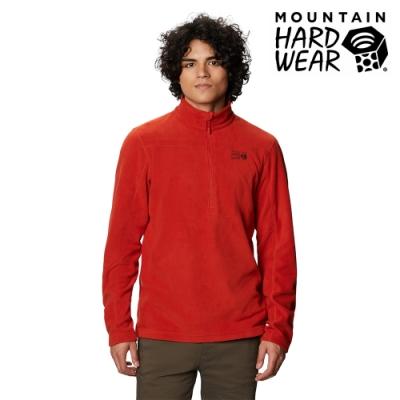 【美國 Mountain Hardwear】Microchill 2.0 Zip T-Shirt 保暖長袖排汗衣 男款 紅漠 #1677261