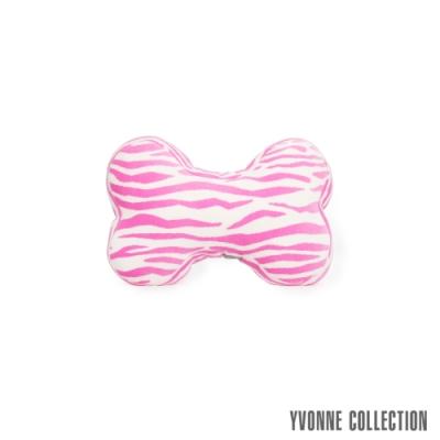 Yvonne Collection 斑馬紋車用骨頭頸部抱枕-粉紅