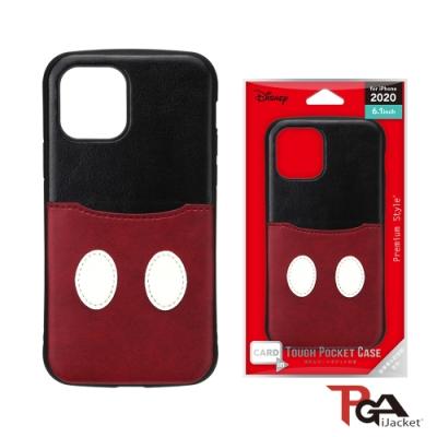 【日本PGA】iPhone 12/12 Pro 6.1吋 迪士尼 軍規口袋插卡 雙料殼-米奇