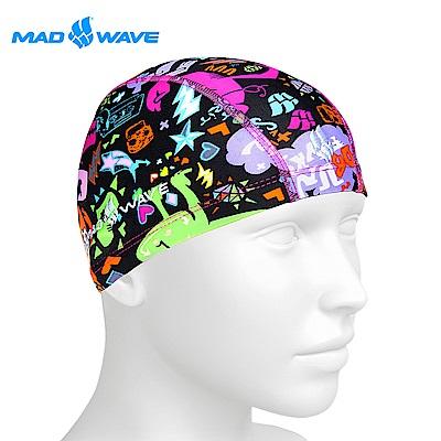 俄羅斯MADWAVE 兒童萊卡彈性泳帽MONSTERS