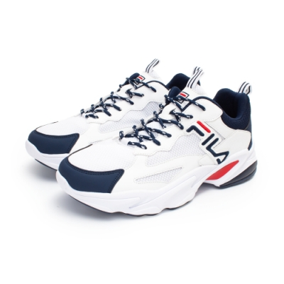 【FILA】BEATS TRACER 復古慢跑鞋 男鞋-白(1-J526U-123)