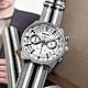 SEIKO 精工 經典條紋 三眼計時 日期 防水100米 尼龍帆布手錶-灰白色/41mm product thumbnail 1