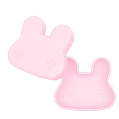 澳洲We Might Be Tiny 矽膠防滑便當盒兔寶寶-淺粉紅