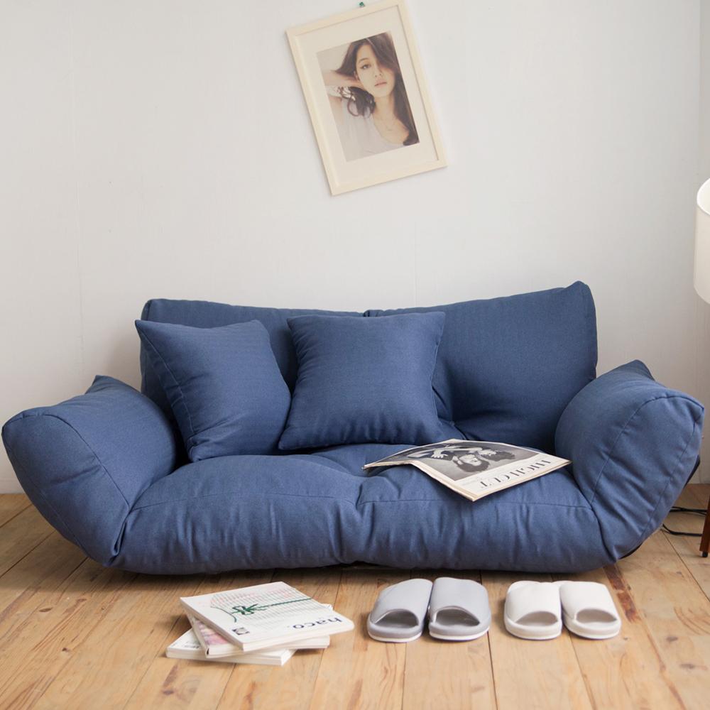 完美主義 5段式雙人激厚款扶手沙發床/和室椅
