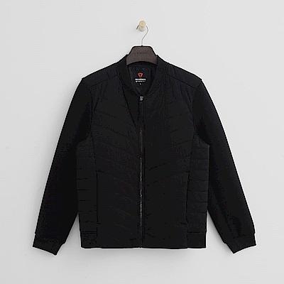 Hang Ten - 男裝 - ThermoContro-接袖拼接保暖外套 - 黑