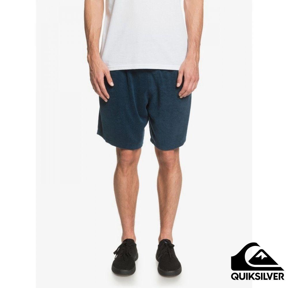 【QUIKSILVER】TOWEL SHORT 休閒短褲 藍色