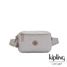Kipling 低調皮革質感霧灰方形腰包-HALIMA