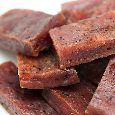 金梓食品‧黑胡椒厚片肉乾(340g/包,共兩包)