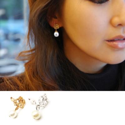 HERA 赫拉 經典玫瑰珍珠耳夾款-2色
