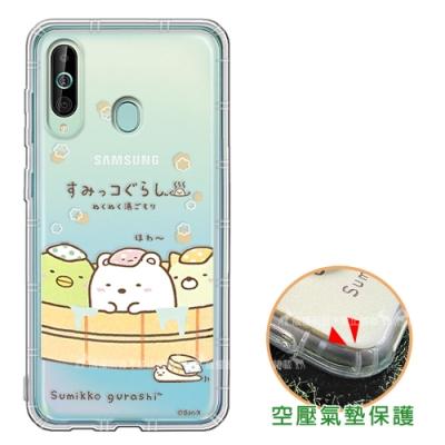SAN-X角落小夥伴Samsung Galaxy A60空壓保護手機殼溫泉