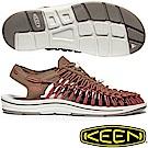 KEEN 1020784咖啡/磚紅 Uneek男專業戶外護趾編織涼鞋
