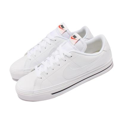 Nike 休閒鞋 Court Legacy 運動 男女鞋 後跟NIKE壓印 皮革 復古網球風 情侶 白 黑 CU4150-100