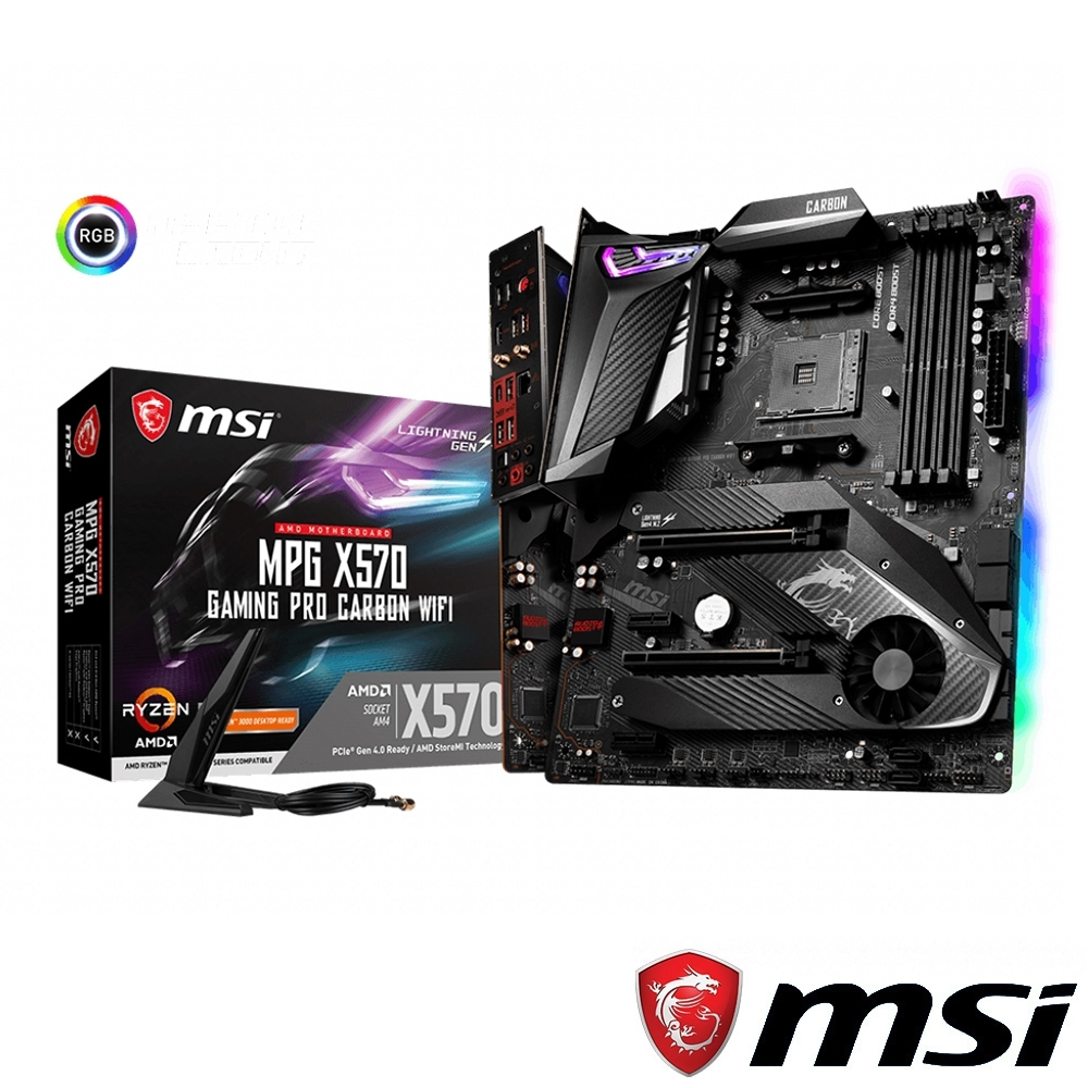 MSI微星 MPG X570 GAMING PRO CARBON WIFI 主機板