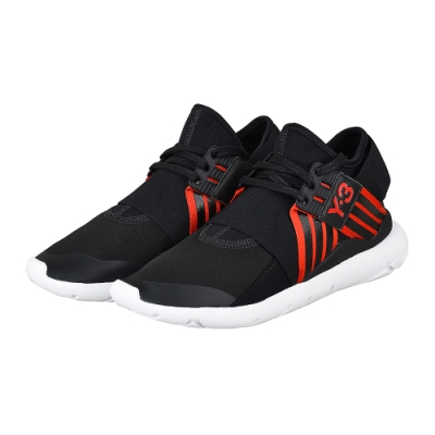 adidas Y-3 QASA ELLE LACE 武士忍者鞋(黑紅)