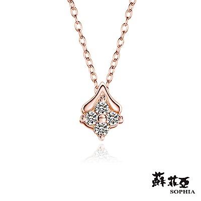 蘇菲亞SOPHIA - 輕珠寶系列初心0.05克拉玫瑰金鑽石套鏈