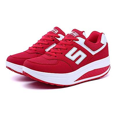 韓國KW美鞋館 運動健美輕量透氣網布健走鞋-紅色