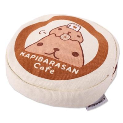 水豚君咖啡小舖圓形萬用收納包-馬克杯 Kapibarasan