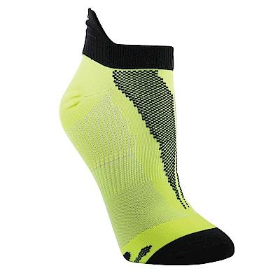 【ZEPRO】男子透氣慢跑踝襪-螢光綠