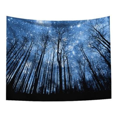 半島良品 北歐風裝飾掛布-星空系列/仰望星空 150x130cm