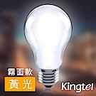 【KINGTEL】LED經典燈絲球泡燈6W-黃光-霧面-12入